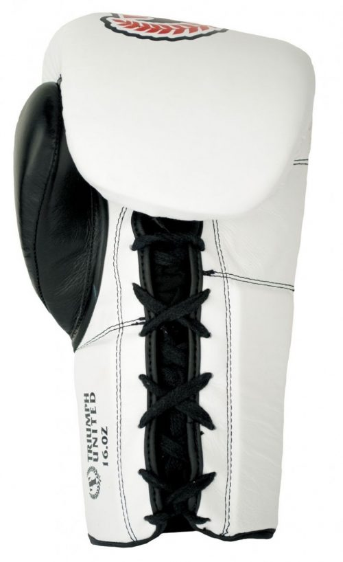 Triumph United Storm Trooper Lace Up Pro Boxing Glove - White