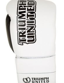 Triumph United Storm Trooper Lace Up Pro Boxing Glove - White