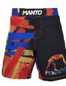 Manto Marker Mens MMA Fight Shorts - Black