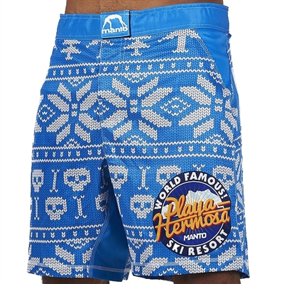Manto Hermosa Mens MMA Fight Shorts - Blue