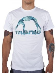 Manto Waves Mens T Shirt - White
