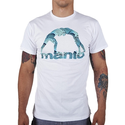 Manto Waves Mens T Shirt - White