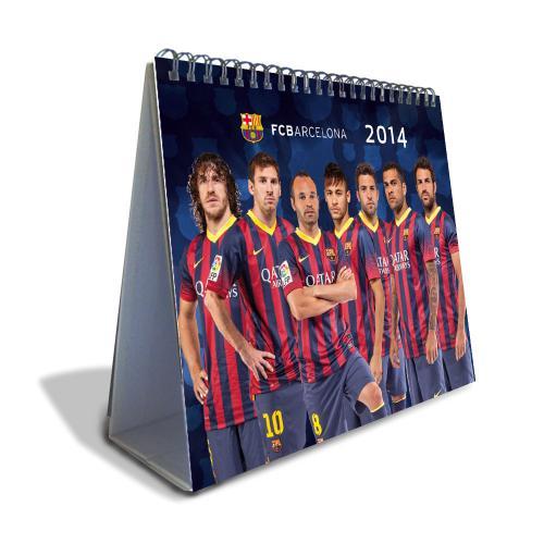 F.C. Barcelona Desktop Calendar 2014