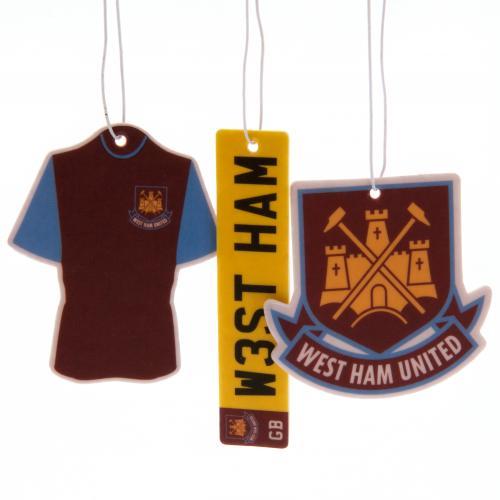 West Ham United F.C. 3pk Air Freshener
