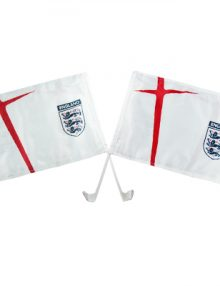 England F.A. Car Flag Twin Pack Home