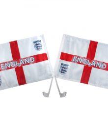 England F.A. Car Flag Twin Pack St George