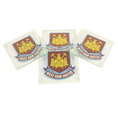 West Ham United F.C. Glass Coasters Square