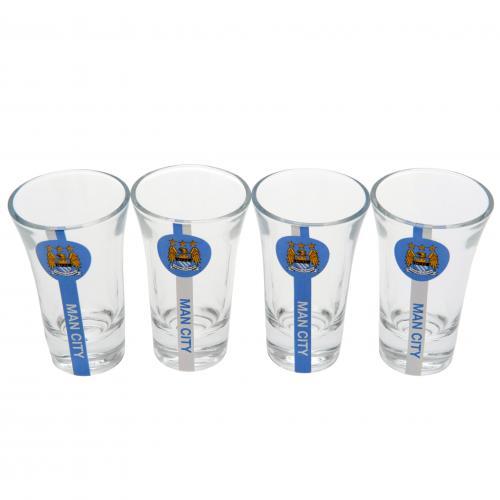 Manchester City F.C. Shot Glass Set