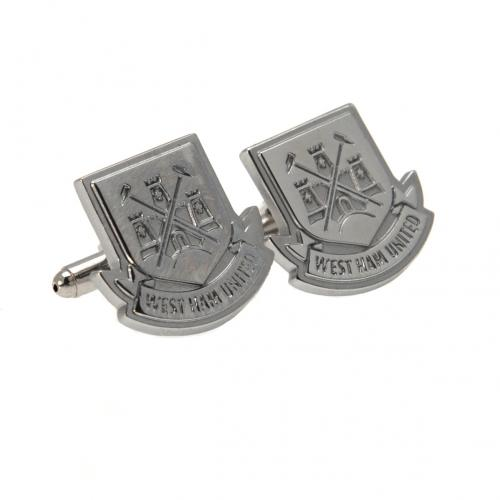 West Ham United F.C. Cufflinks Chrome