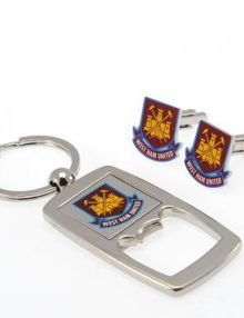 West Ham United F.C. Cufflinks & Keyring Bottle Opener Set