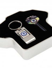Chelsea F.C. Door Key & Keyring Tin Set