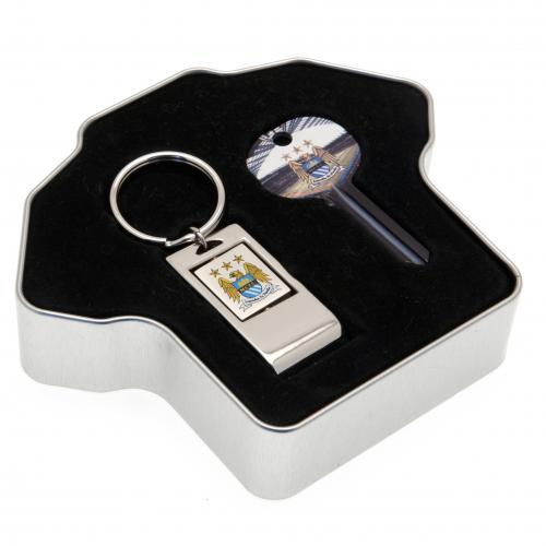 Manchester City Door Key & Keyring Tin Set