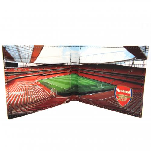 Arsenal F.C. Embossed Leather Wallet Panoramic