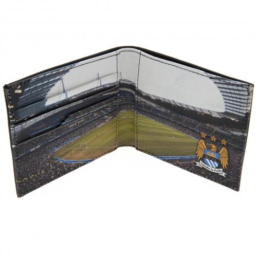 Manchester City F.C. Embossed Leather Wallet