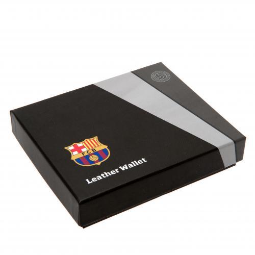 F.C. Barcelona Embossed Leather Wallet