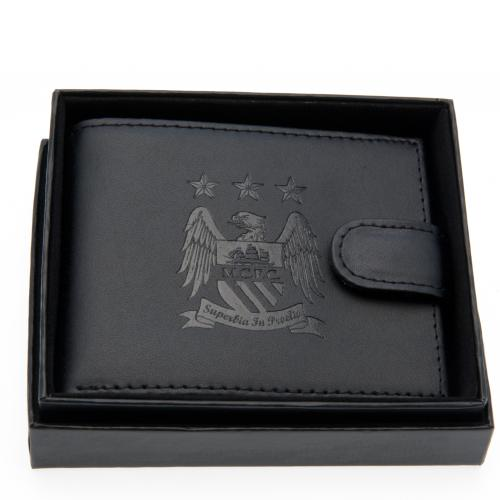 Manchester City F.C. Embossed Leather Wallet 805