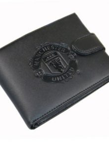 Manchester United F.C. Embossed Leather Wallet