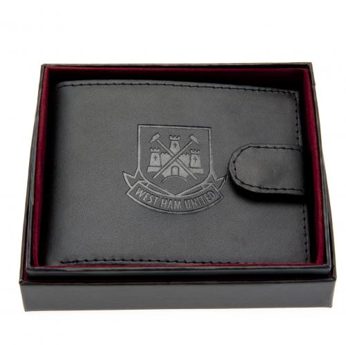 West Ham United F.C. Embossed Leather Wallet
