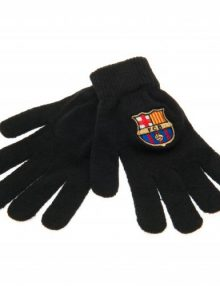 F.C. Barcelona Knitted Gloves Junior BLK