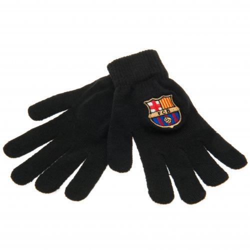 F.C. Barcelona Knitted Gloves Junior BLK