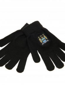 Manchester City F.C Knitted Gloves Junior