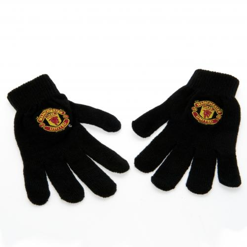 Manchester United F.C Knitted Gloves Adult