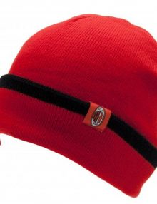 A.C. Milan Reverse Cuff Knitted Hat