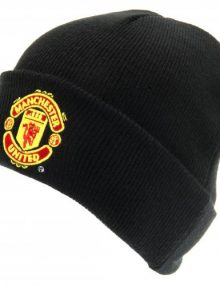 Manchester United F.C. Knitted Hat Junior TU BLK