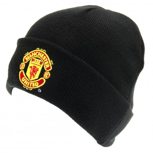 Manchester United F.C. Knitted Hat TU BLK