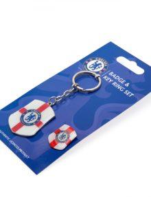 Chelsea F.C. Keyring & Badge Set SG