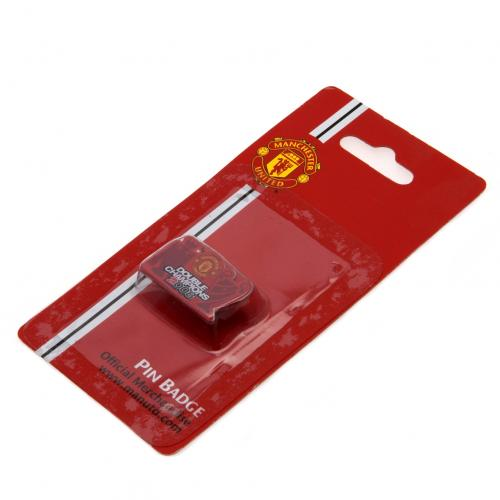 Manchester United F.C. Badge Double Champions
