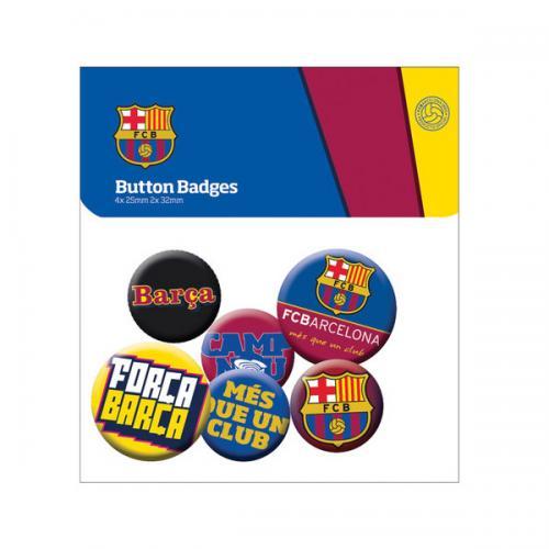 F.C. Barcelona Button Badge Set