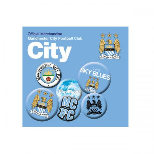 Manchester City F.C. Button Badge Set