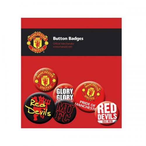 Manchester United F.C. Button Badge Set