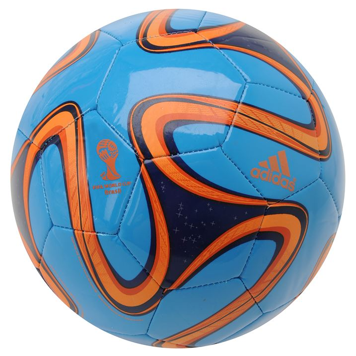new product 0dfe3 1d903 Adidas Brazuca 2014 FIFA World Cup Glider Ball - Solar BlueZ