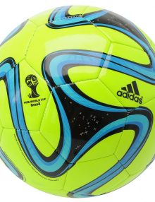 Adidas Brazuca 2014 FIFA World Cup Glider Ball - Solar Lime/Black