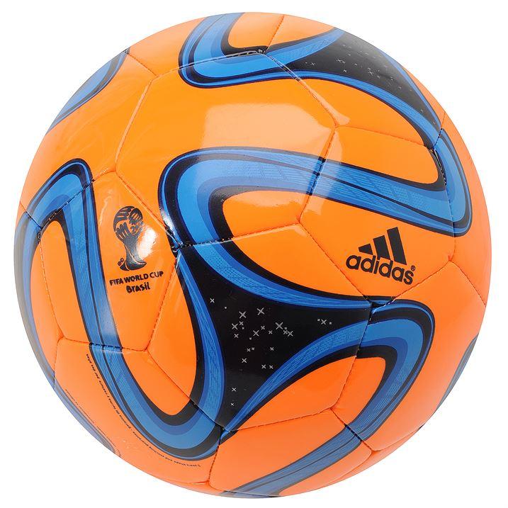 Adidas Brazuca 2014 FIFA World Cup Glider Ball - Solar Zest/Blue