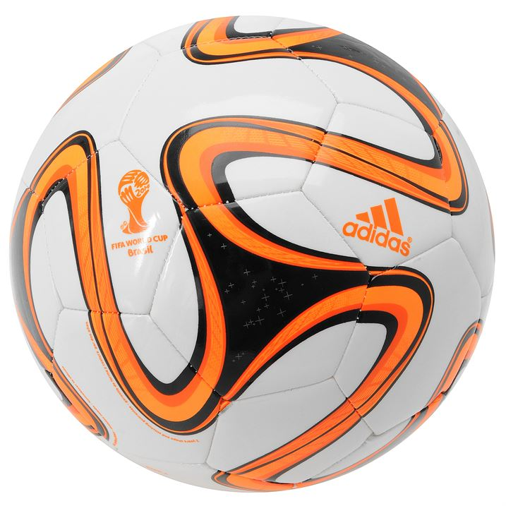 Adidas Brazuca 2014 FIFA World Cup Glider Ball - White/Black Zest