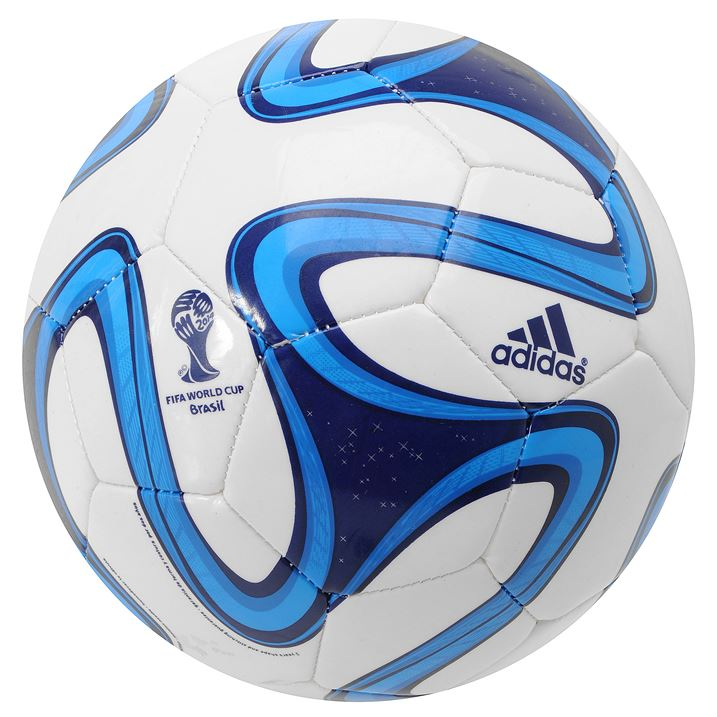 Adidas Brazuca 2014 FIFA World Cup Glider Ball - White/Night Blue