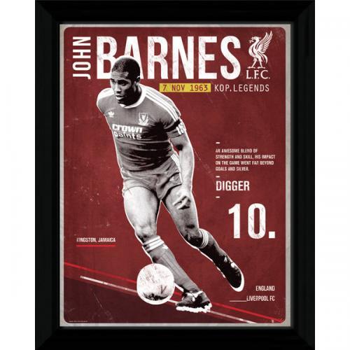 Liverpool F.C. Barnes Retro Framed Picture
