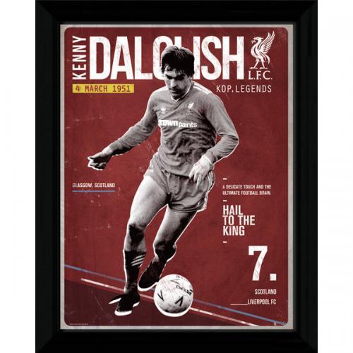 Liverpool F.C. Dalglish Retro Framed Picture