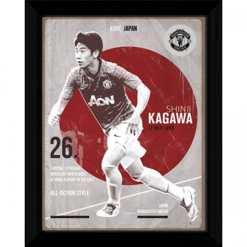 Manchester United F.C. Kagawa Retro Framed Picture