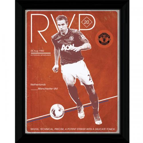 Manchester United F.C. Van Persie Retro Framed Picture