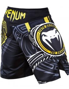 Venum Lyoto Machida Ryugin Fight Shorts - Black & Yellow