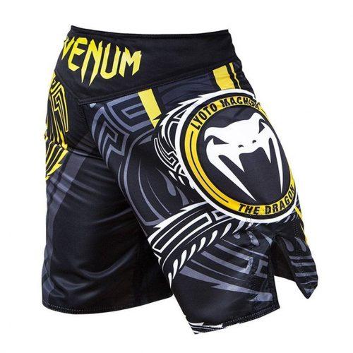 Venum Lyoto Machida Ryugin Fight Shorts - Black & Yellow