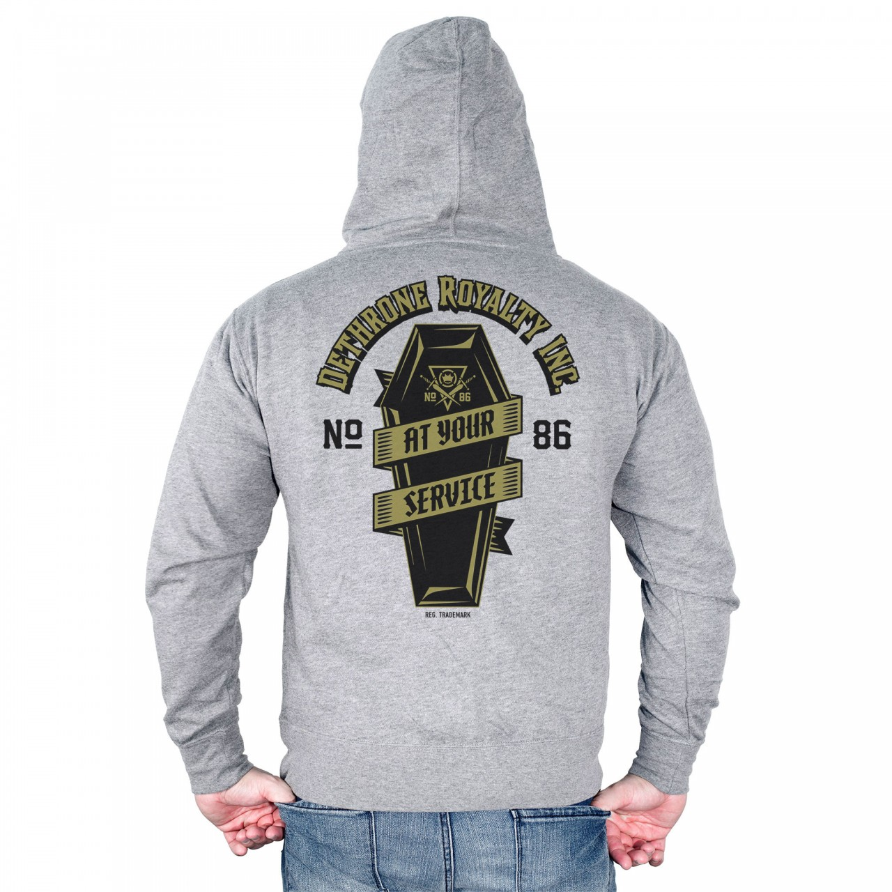 Dethrone At Your Service Hoodie - Grey