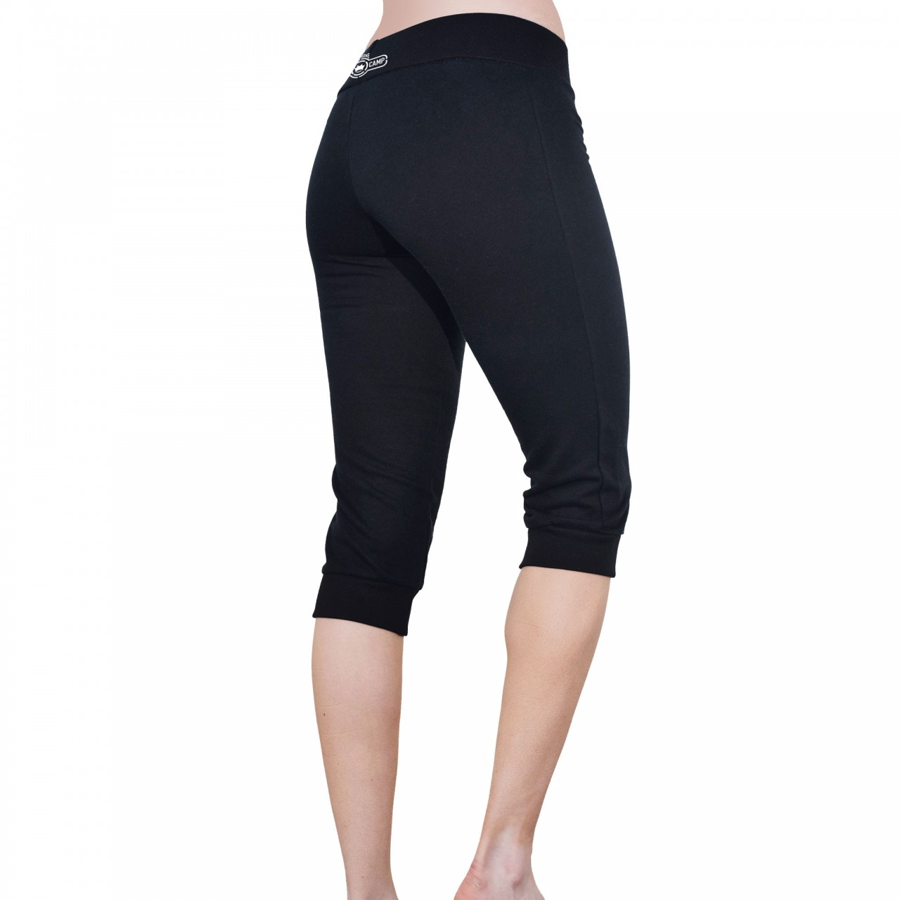 Dethrone Womens Fitness Pants Short - Black