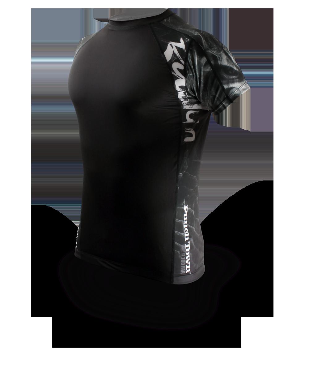 Punchtown Ryushin Rash Guard Short Sleeve - Black