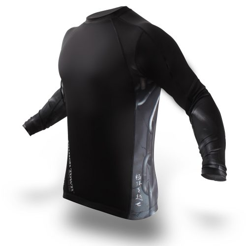 Punchtown Chainz Rash Guard Long Sleeve - Black