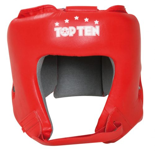 TOP TEN AIBA Boxing Head Guard - Red